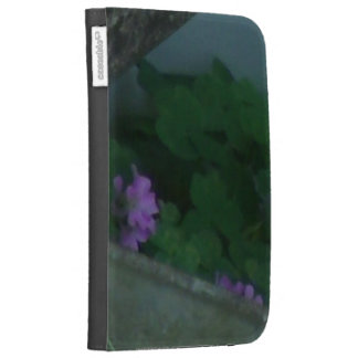 Purple Pink Shamrock Clover Flowers Kindle 3G Cases