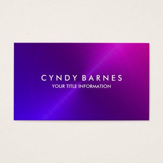 Purple Pink Sheen Business Card