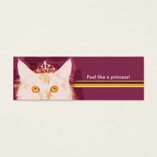 Purple Pink Small Business Card
