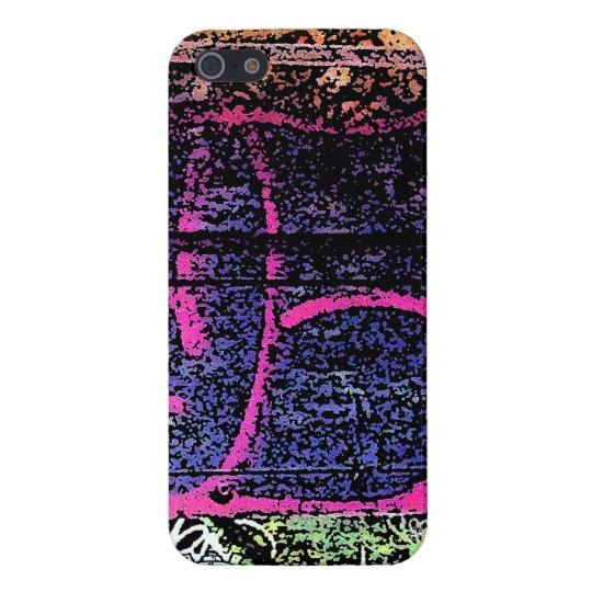 Purple Pink Soho Graffiti iPhone 5 Case