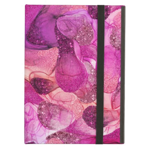 Purple pink sparkle dream case for iPad air