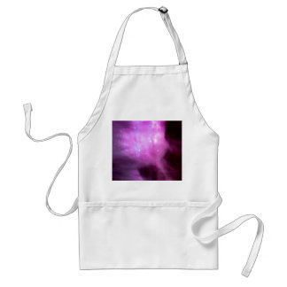 Purple pink stars in space adult apron