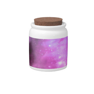 Purple pink stars in space candy jar