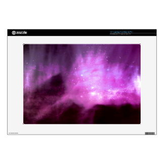 """Purple pink stars in space 15"""" laptop decals"""