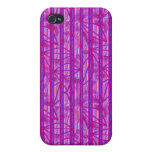 Purple Pink Stripes Cases For iPhone 4