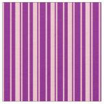 [ Thumbnail: Purple & Pink Stripes Pattern Fabric ]