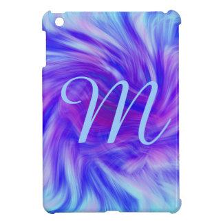 Purple & pink swirl background for monogram iPad mini cases