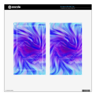 Purple & pink swirl background for monogram kindle fire decal
