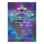 """Purple Pink Teal Blue Quinceanera 5"""" X 7"""" Invitation Card"""
