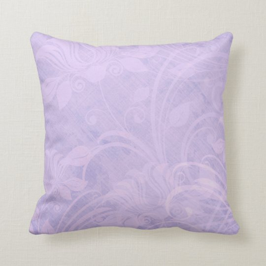 Purple pink textured vintage styled throw pillow