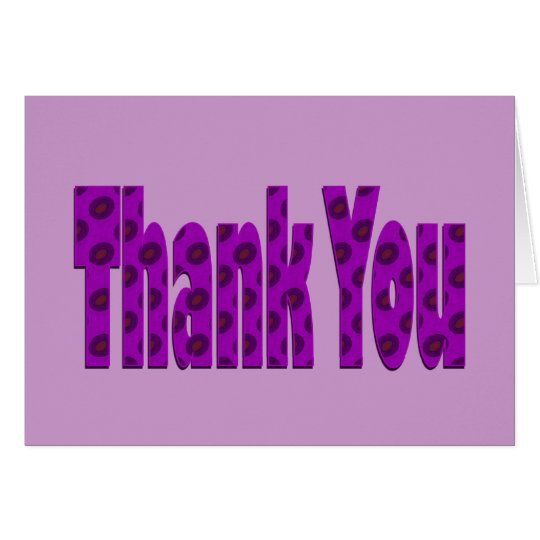 purple pink Thank you Card