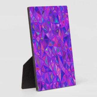 Purple pink tile mosaic plaque