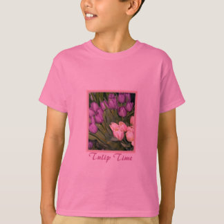 Purple Pink Tulips T-Shirt