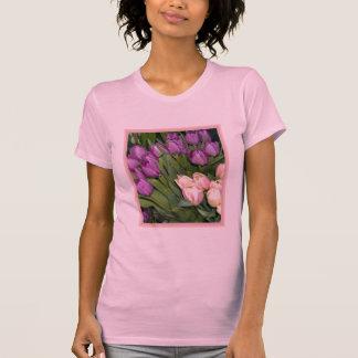 Purple Pink Tulips T Shirt