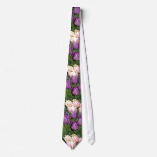 Purple Pink Tulips Tie