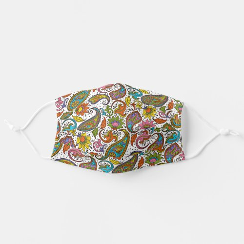 Purple Pink Turquoise Blue Indian Floral Paisley Cloth Face Mask