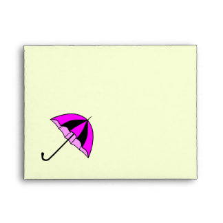 Purple, pink, umbrella  A2 Note Card Envelope