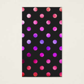 Purple Pink Violet Metallic Faux Foil Polka Dot Business Card