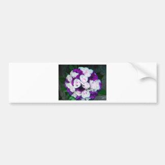purple pink wedding flowers bumper stickers