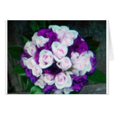 purple pink wedding flowers cards by kkincade12