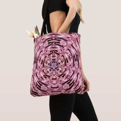 Purple Pink Wine Mandala Satin Look Tote Bag