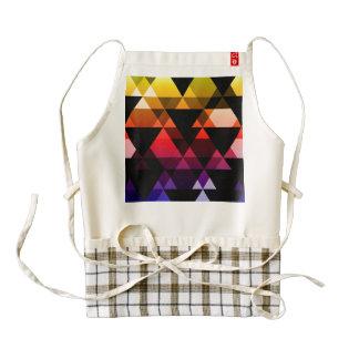 Purple, Pink & Yellow Triangle Design Zazzle HEART Apron