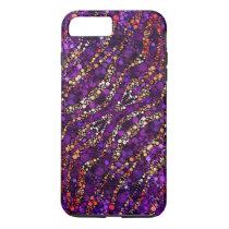 Purple Pink Zebra Bling iPhone 8 Plus/7 Plus Case