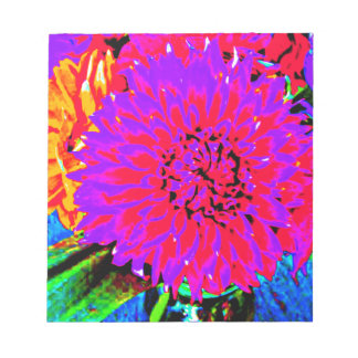 purple, pinks, orange dahlia in mason jars memo note pads