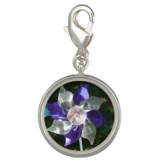 Purple Pinwheel Charm