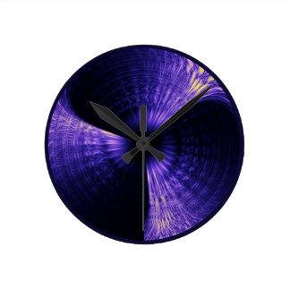 Purple Pinwheel Round Wallclocks