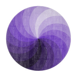 Purple Pinwheel Cutting Board