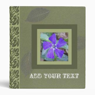 Purple Pinwheel Flower Binder, ADD YOUR TEXT Binder