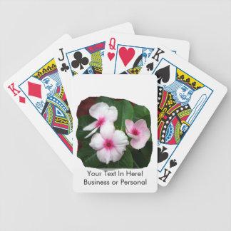 Purple Pinwheel Flowers Photograph Bicycle Playing Cards