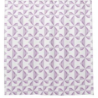 Purple Pinwheel Shower Curtain
