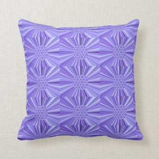 Purple Pinwheel Tiled Fractal Burst Throw Pillow
