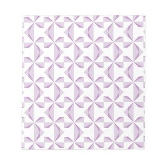 Purple Pinwheels Scrapbook Paper Notepad