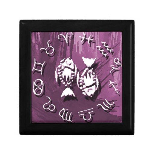 Purple Pisces Jewelry/Gift Box Keepsake Box