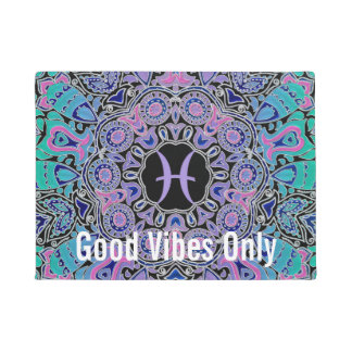 Purple Pisces Mandala Doormat