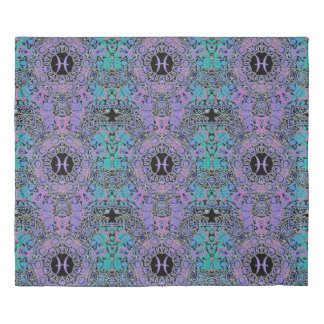 Purple Pisces Mandala Duvet Cover