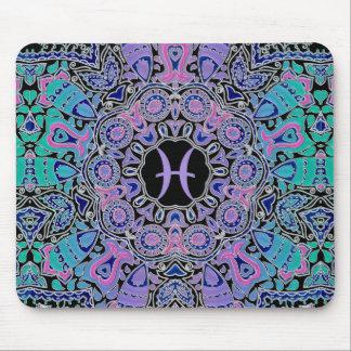 Purple Pisces Mandala Mouse Pad