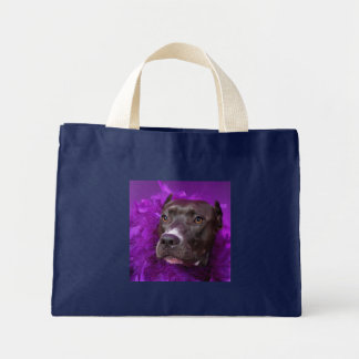 Purple Pit Bull Diva Mini Tote Bag