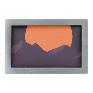 Purple Pixel Sunset Belt Buckle