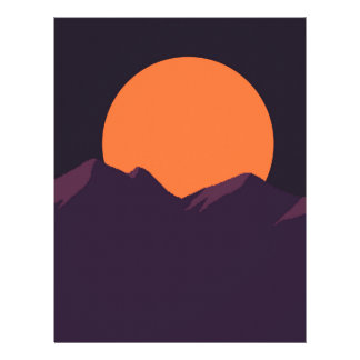 Purple Pixel Sunset Letterhead
