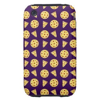 Purple pizza pattern iPhone 3 tough cases
