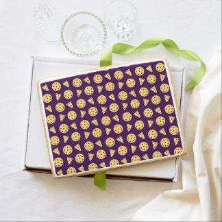 Purple pizza pattern jumbo cookie