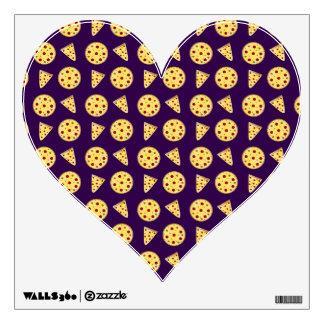Purple pizza pattern room decal