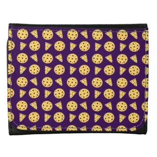 Purple pizza pattern wallets