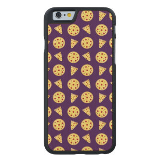 Purple pizza pattern carved® maple iPhone 6 case