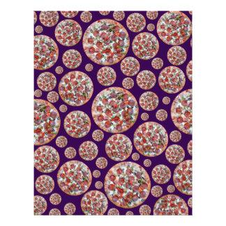 Purple pizza pie letterhead