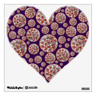 Purple pizza pie wall graphics